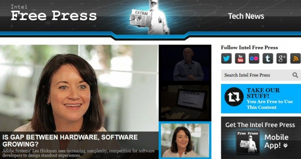 英特尔科技新闻网站:Intel Free Press