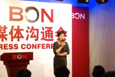 蓝海电视创始人诸葛虹云在媒体沟通会现场