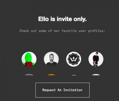 Ello网站截图