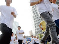 企业里的跑步运动