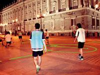 马德里街头的激光球场