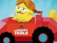 麦当劳:桌子化身互动平面