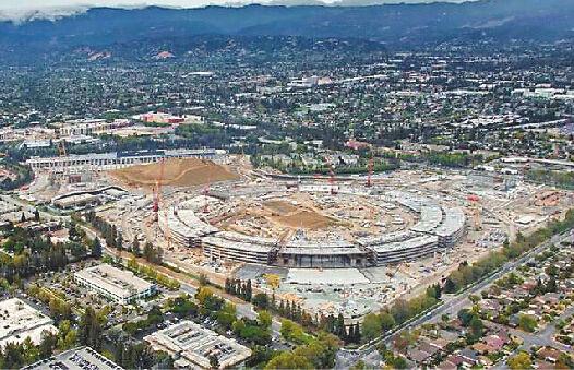 苹果公司尚未完工的新总部园区