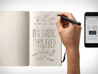 笔记本贵族Moleskine推出电子纸笔套装,依旧是文青装逼利器