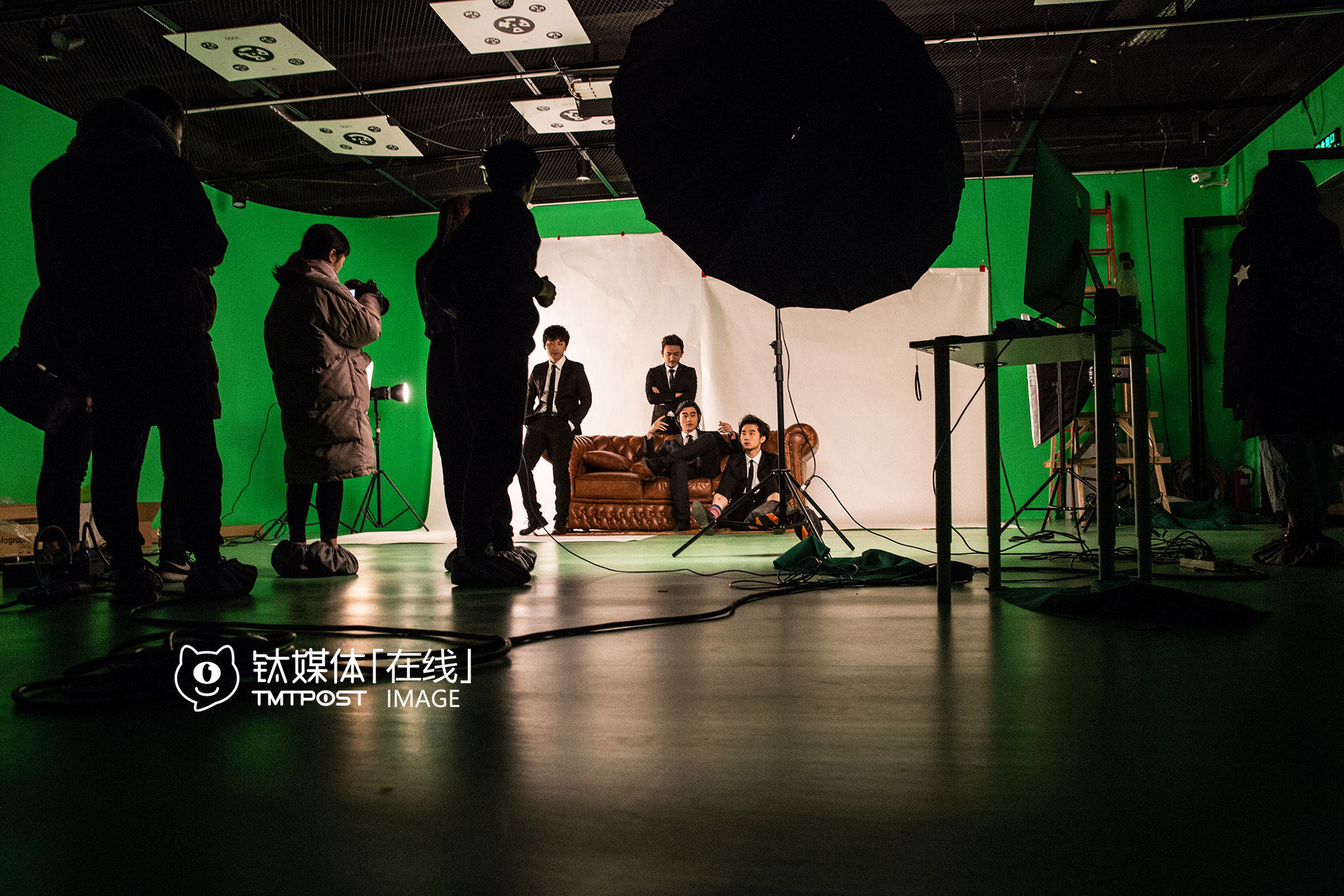 UniMedia's studio. Boss season two's poster shoot.