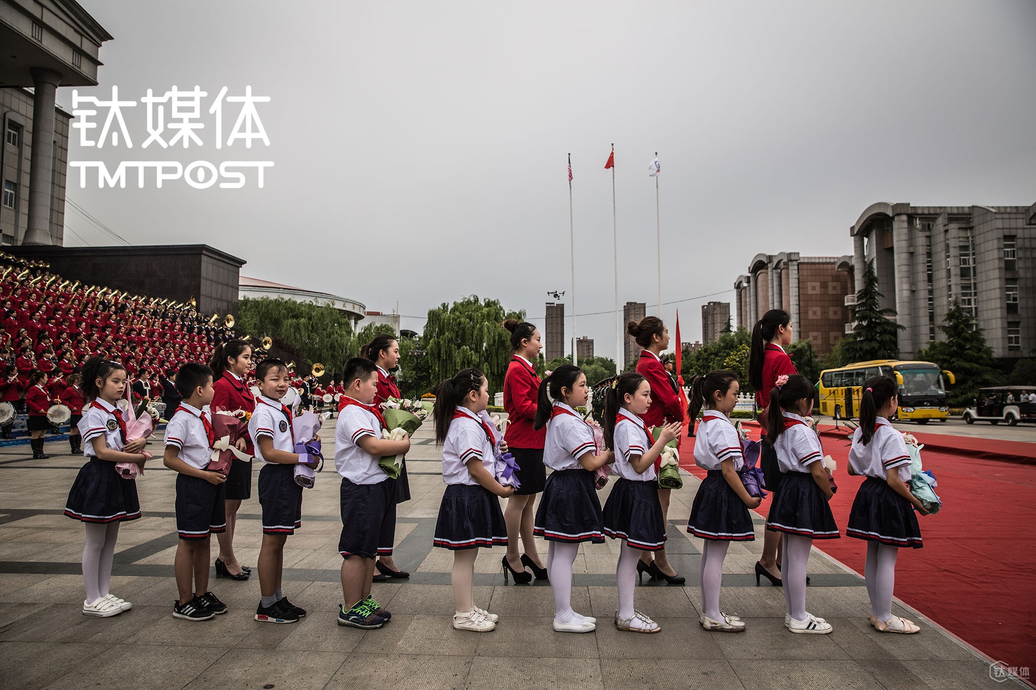 The welcome ceremony at Sias International University of Zhengzhou University
