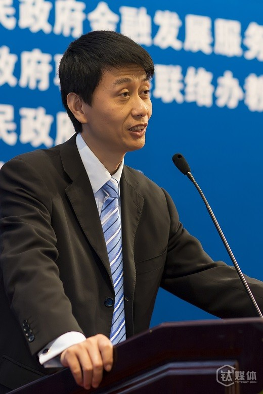 深交所副总经理、深圳证券通信公司董事长邹胜接受钛媒体记者采访