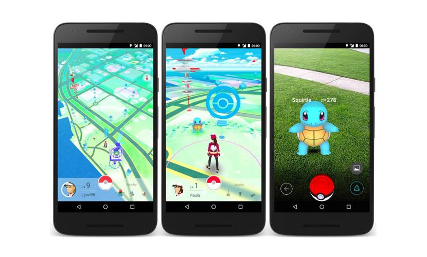 Pokemon Go游戏界面