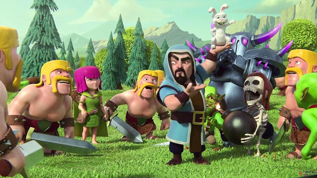 图为《部落冲突》游戏画面