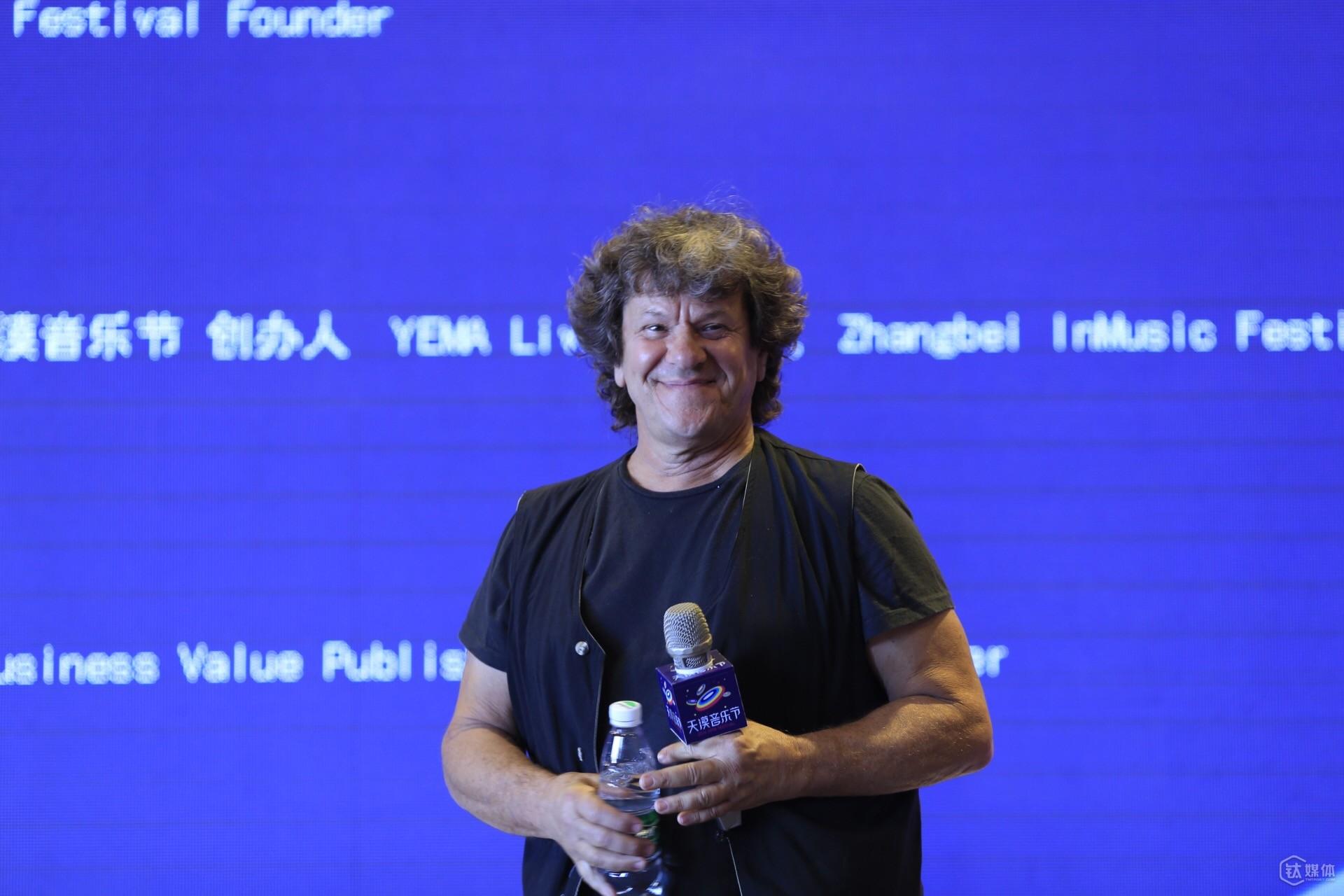 伍德斯托克音乐节创始人Michael Lang在T-EDGE Music论坛