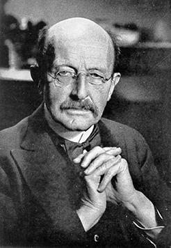"""普朗克提出""""能量子"""" (Energieelement) 的概念,其后又将a此 表述修正为""""量子""""。"""