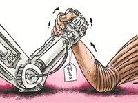 """富士康员工自述:不怕""""机器人换人"""",要做机器的主人"""