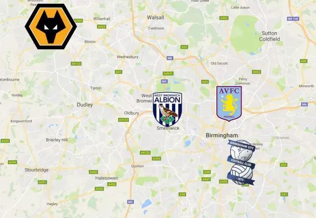 中资收购的英格兰俱乐部,都位于英格兰第二大城市伯明翰的周边