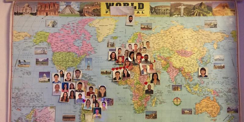 在实习生公寓住过的小伙伴都在地图上留下了照片