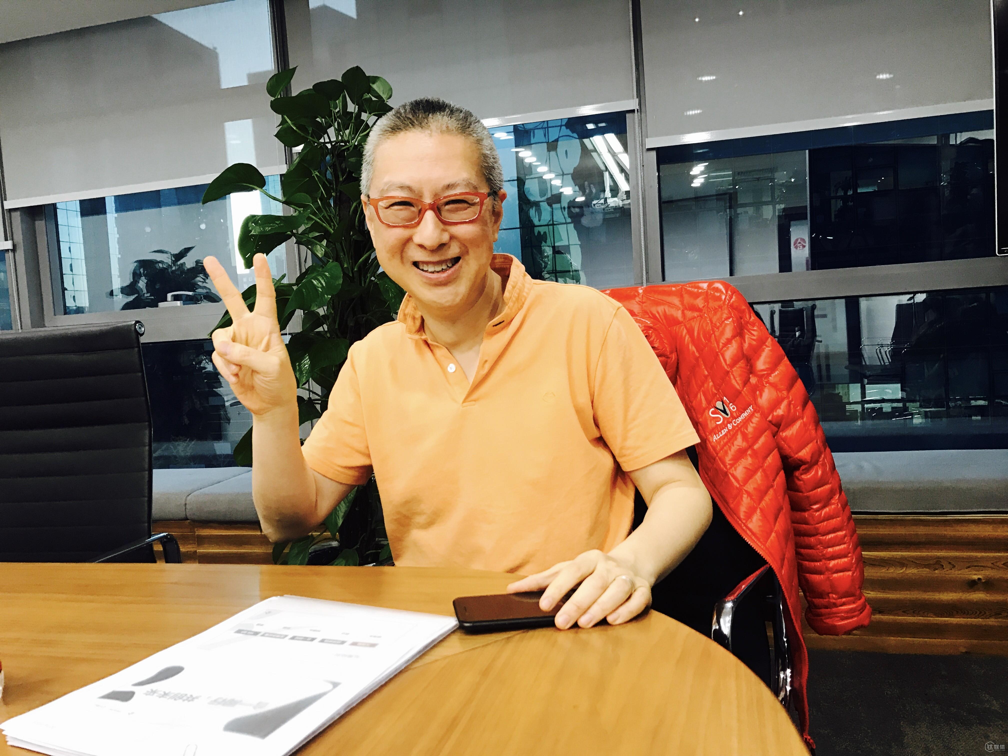 古永锵在办公室接受钛媒体专访