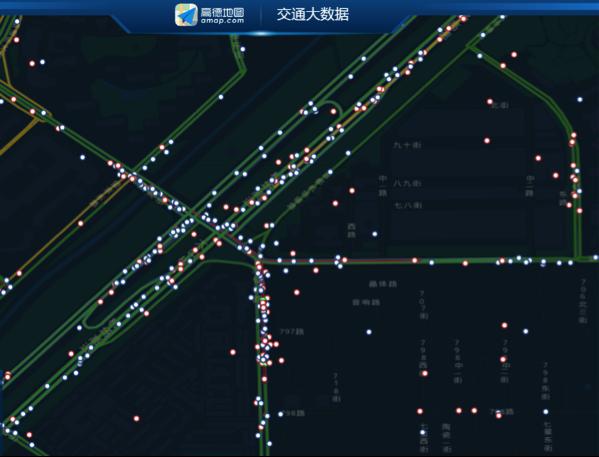 高德地图交通大数据实时路况