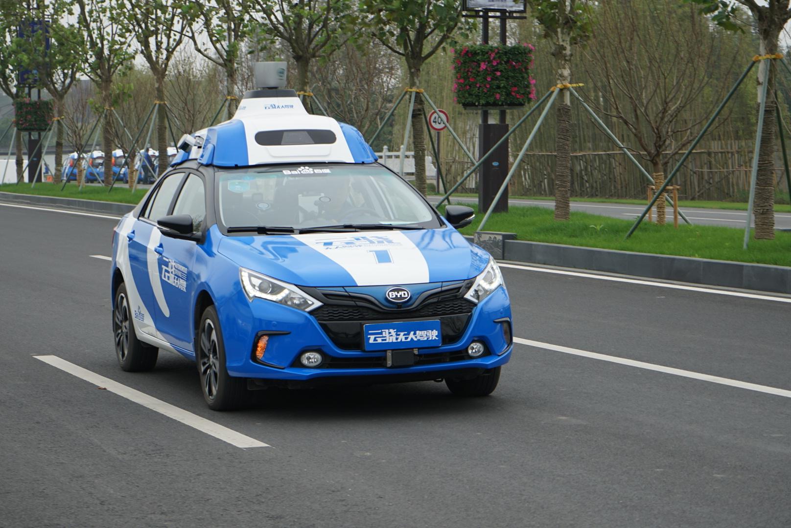 百度无人驾驶汽车在乌镇路测