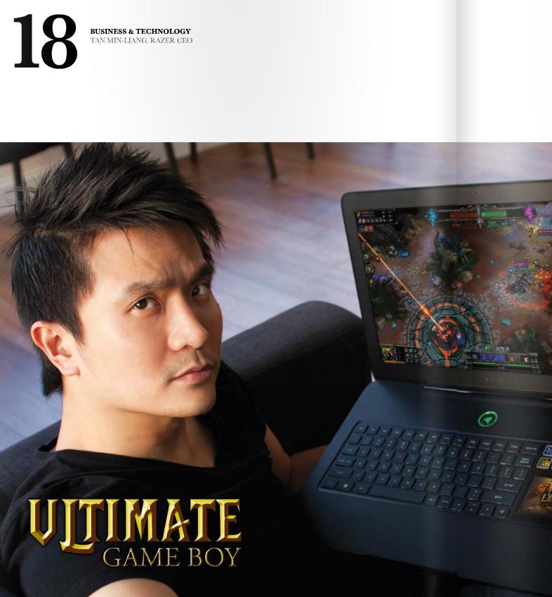 陈民亮曾经就读的莱福士书院的杂志刊登的他的照片 来源:杂志