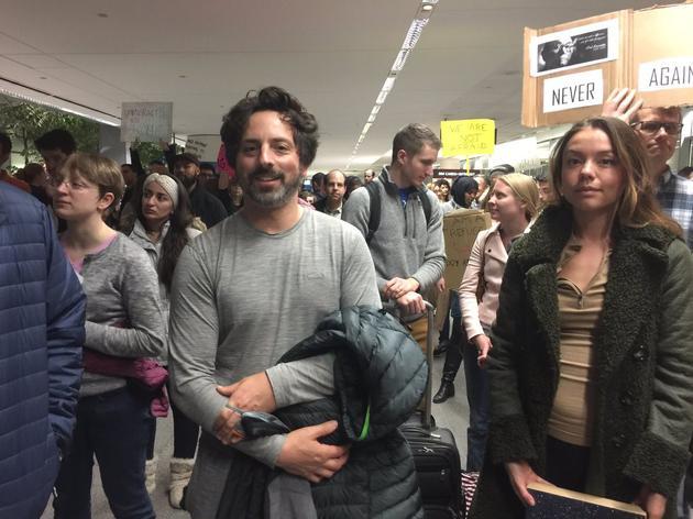 谷歌联合创始人布林亲自参加抗议游行谷歌联合创始人布林亲自参加抗议游行