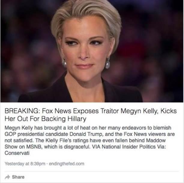 Facebook推送的假新闻