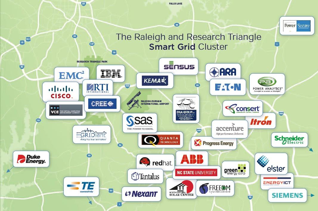 在北卡三角研究园集中了大量的企业