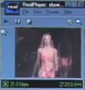 维多利亚秘密走秀的第一次线上直播画面分辨率极差 来源:StreamingMedia
