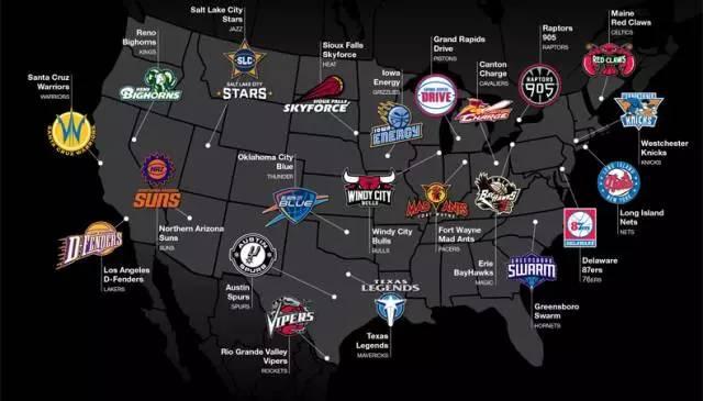 NBA发展联盟目前22支球队