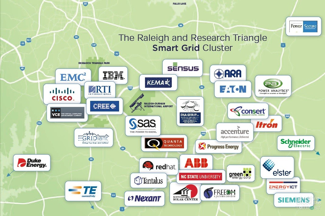 The Research Triangle Park amasses a great amount of companies