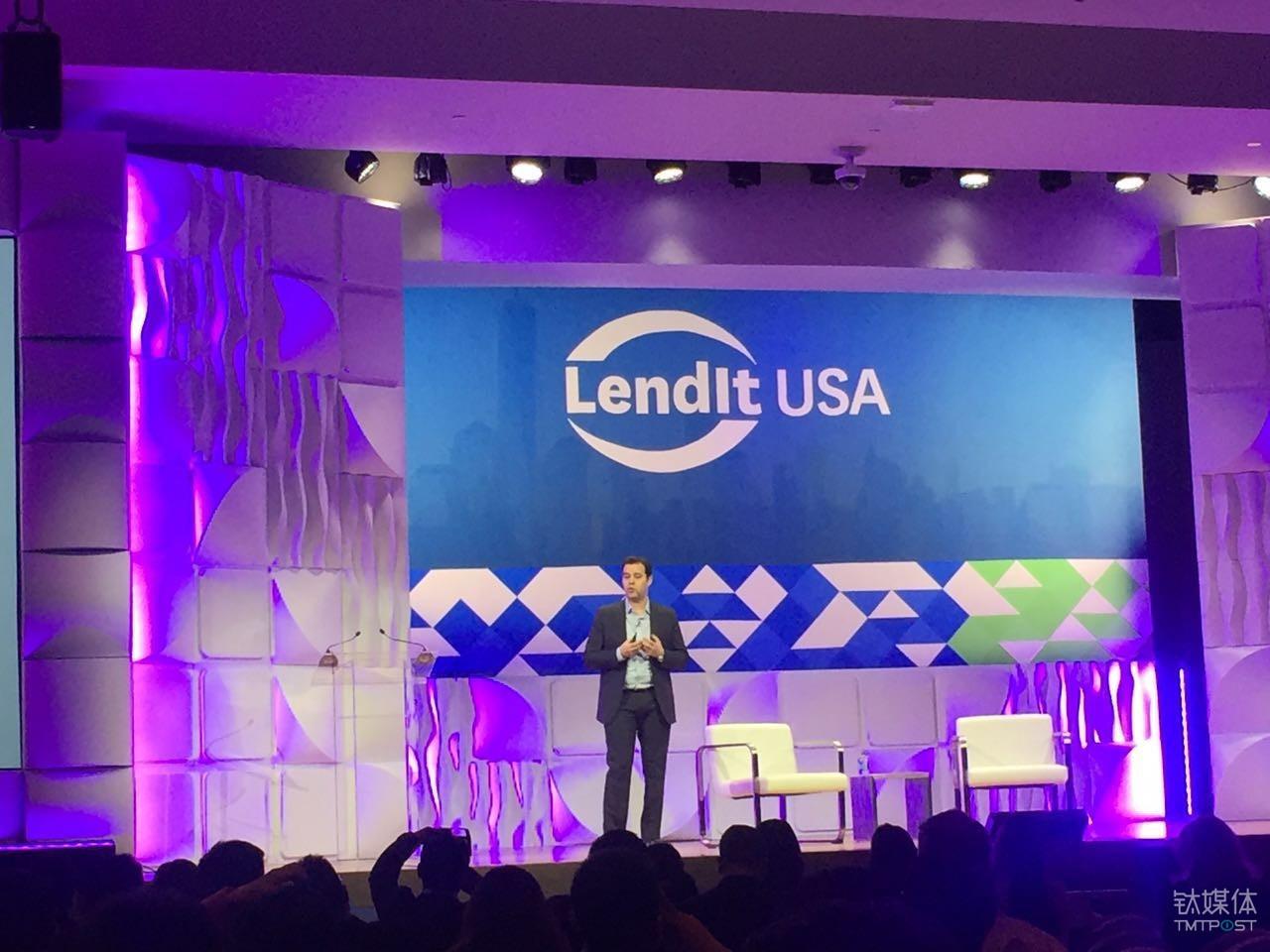 点融网创始人Soul  Hitte在Lendit大会上介绍区块链平台