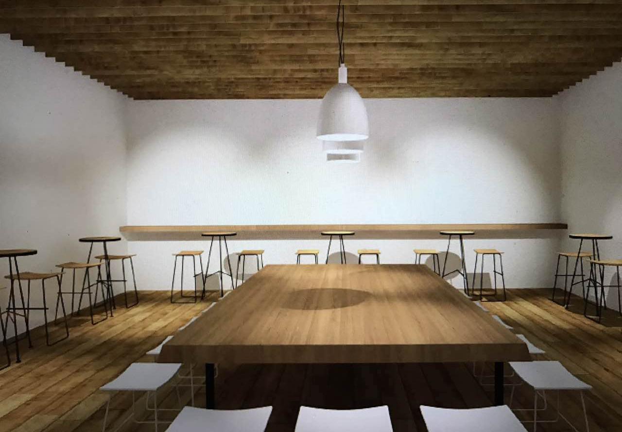 """由前星巴克中国区华中运营总监刘芳创立的新式茶店""""煮叶""""设计概念图"""