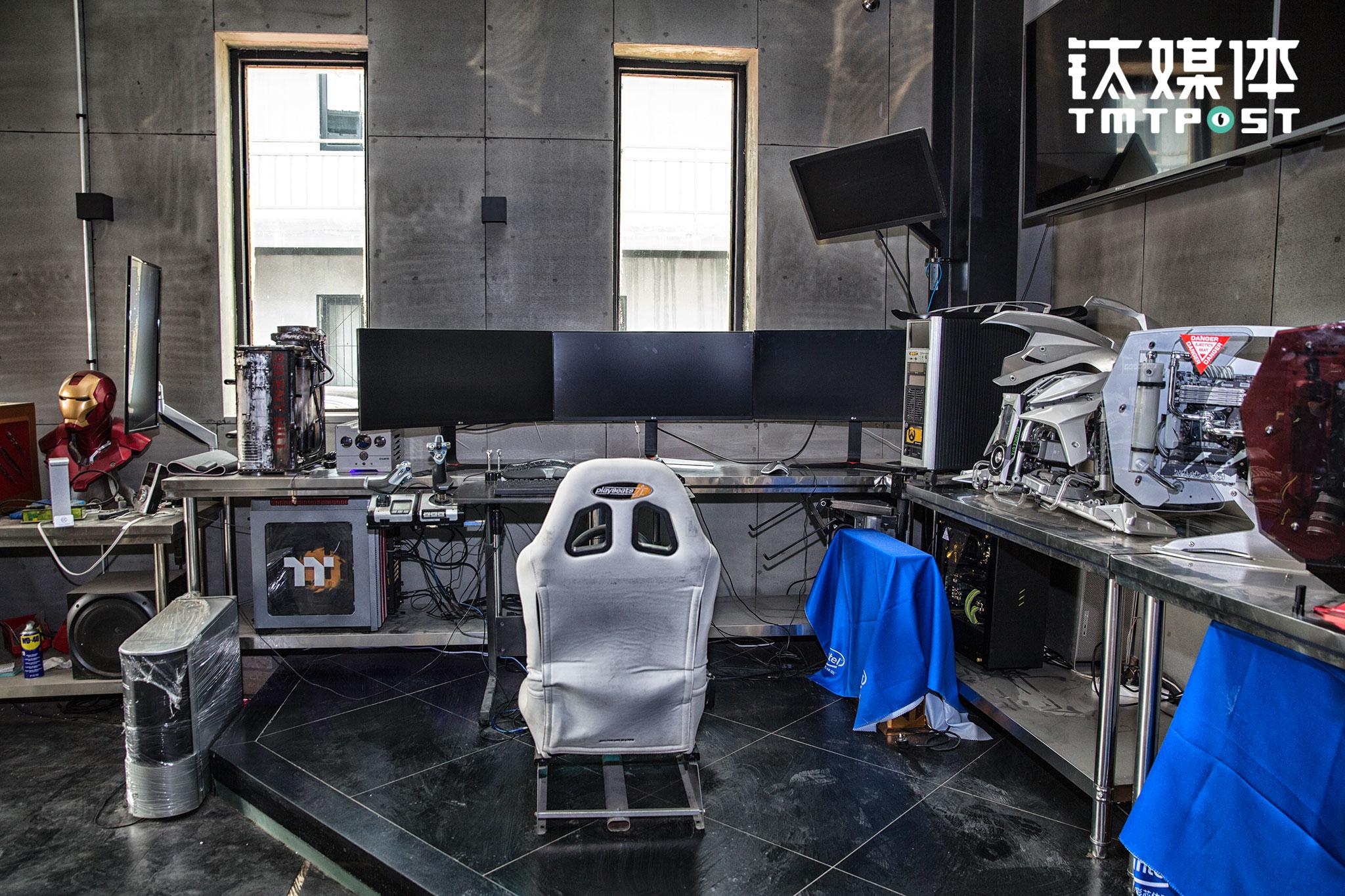 工作室一楼的游戏体验区。