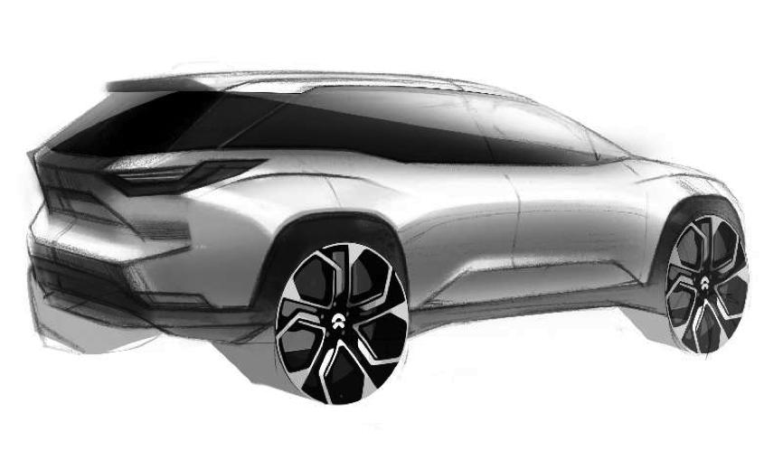 疑似蔚来汽车量产车设计图