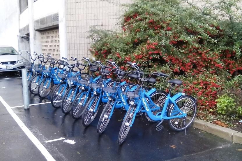 Bluegogo在旧金山买下的私人停车位