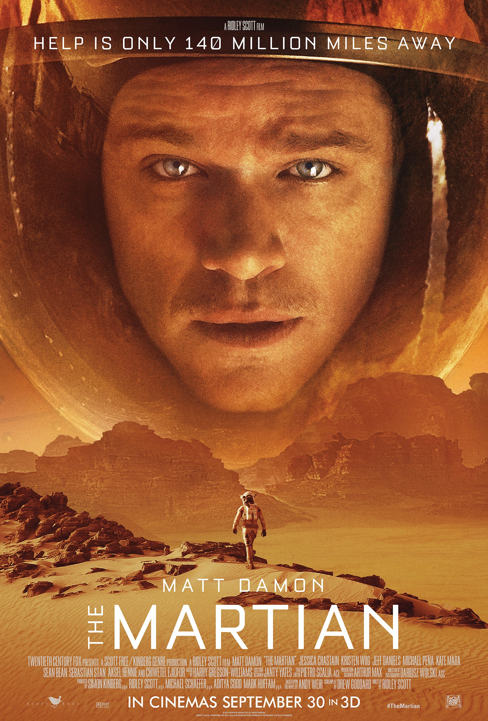 《火星救援》获得了奥斯卡7项提名
