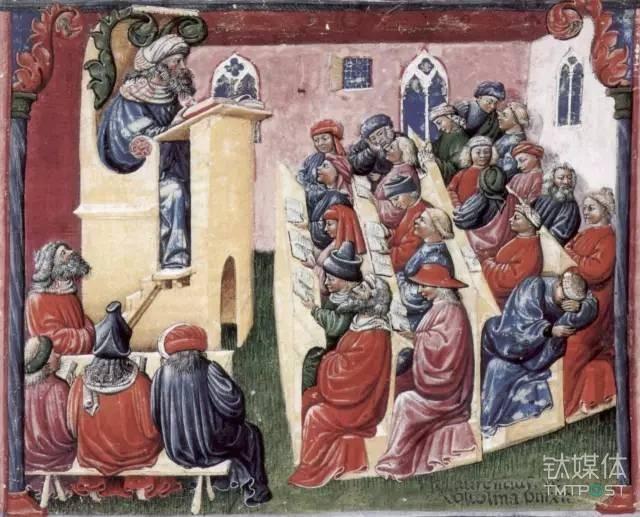 图丨中世纪的大学