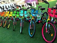 【钛晨报】共享单车又添新成员,搭配夜光车轮的七彩单车来了