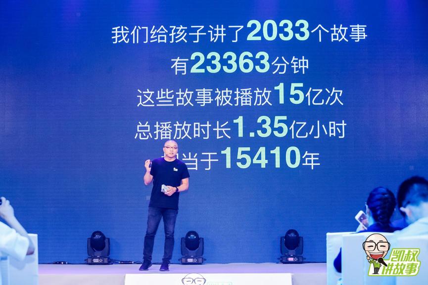 """在融资发布消息现场,王凯透露,成立三年以来,""""凯叔讲故事"""" 给孩子讲了2033个故事,一共23363分钟。"""