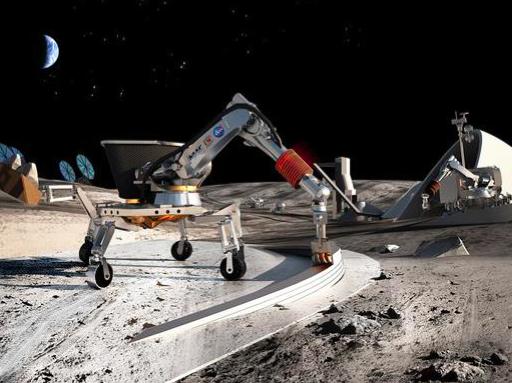 """月球上造房子的场景,看起来是不是很酷,我们将在地球上首届""""科技生活节""""上造一个,还不来加入?"""