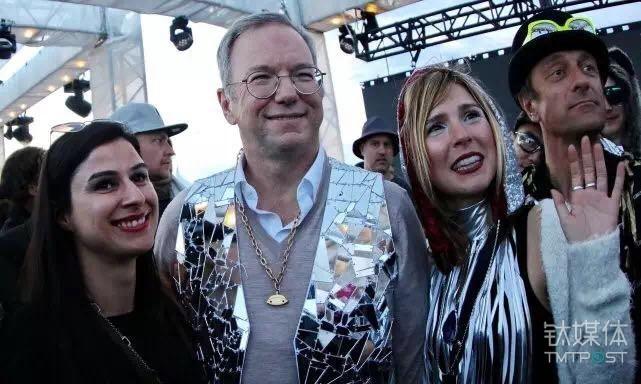 Google董事长施密特在火人节