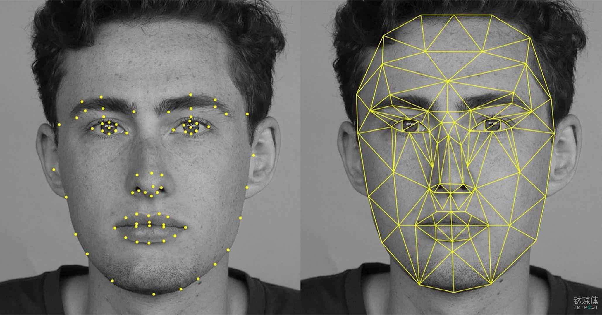 Snapchat的人脸识别系统。图片来源/petapixel.com
