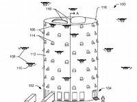 亚马逊快递无人机塔申请专利,外表神似蜂巢