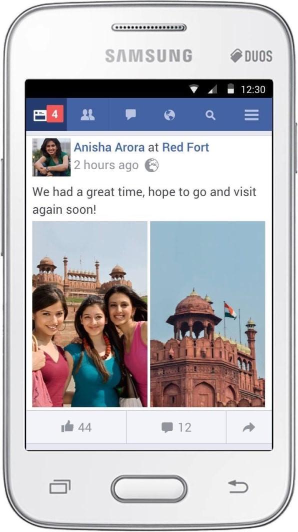 Facebook Lite拥有2亿用户,对手机配置和网络要求较低。