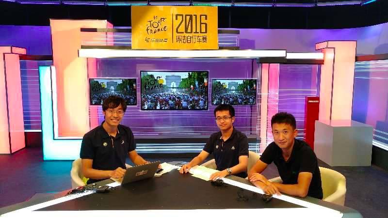 2016年,乐视体育节目中的李陶、萧深与计成
