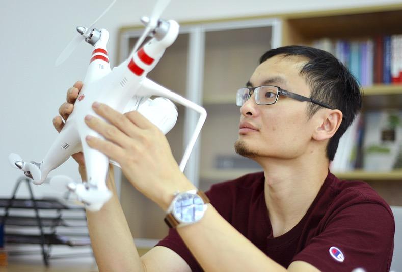 大疆创新科技有限公司CEO汪滔,来源:视觉中国