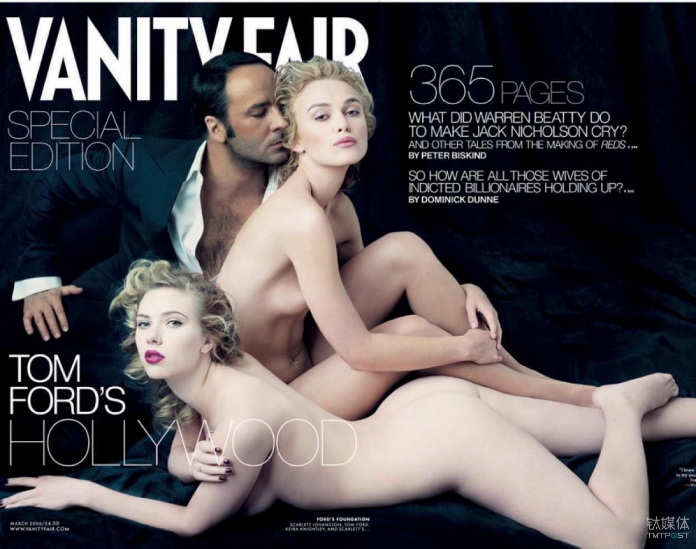 汤姆·福特和两位好莱坞女明星为《名利场》拍摄的封面