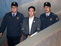 """行贿案终审,""""三星太子""""李在镕或面临12年刑罚"""