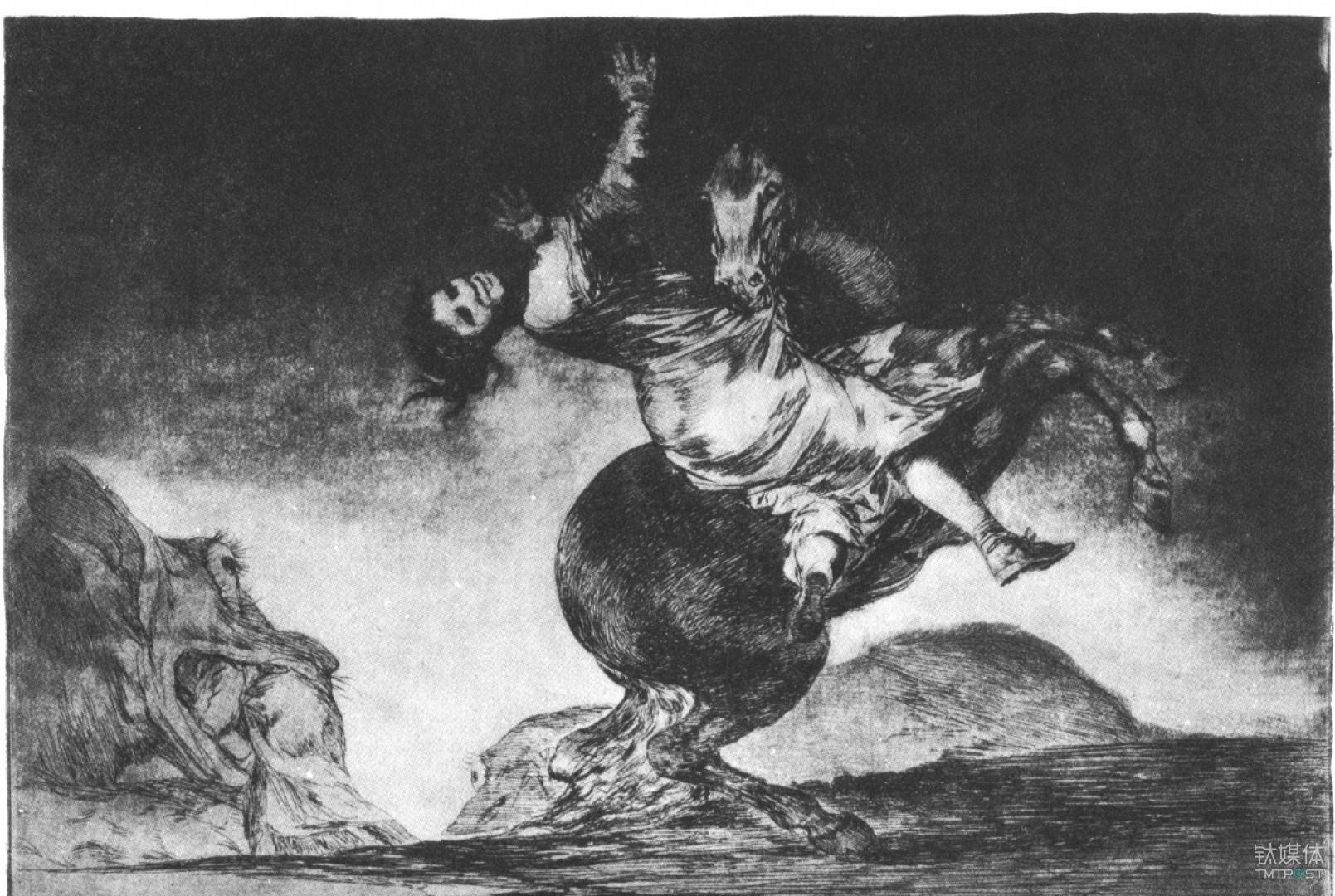 西班牙画家弗朗西斯科·戈雅为《猿与本质》创作的插图
