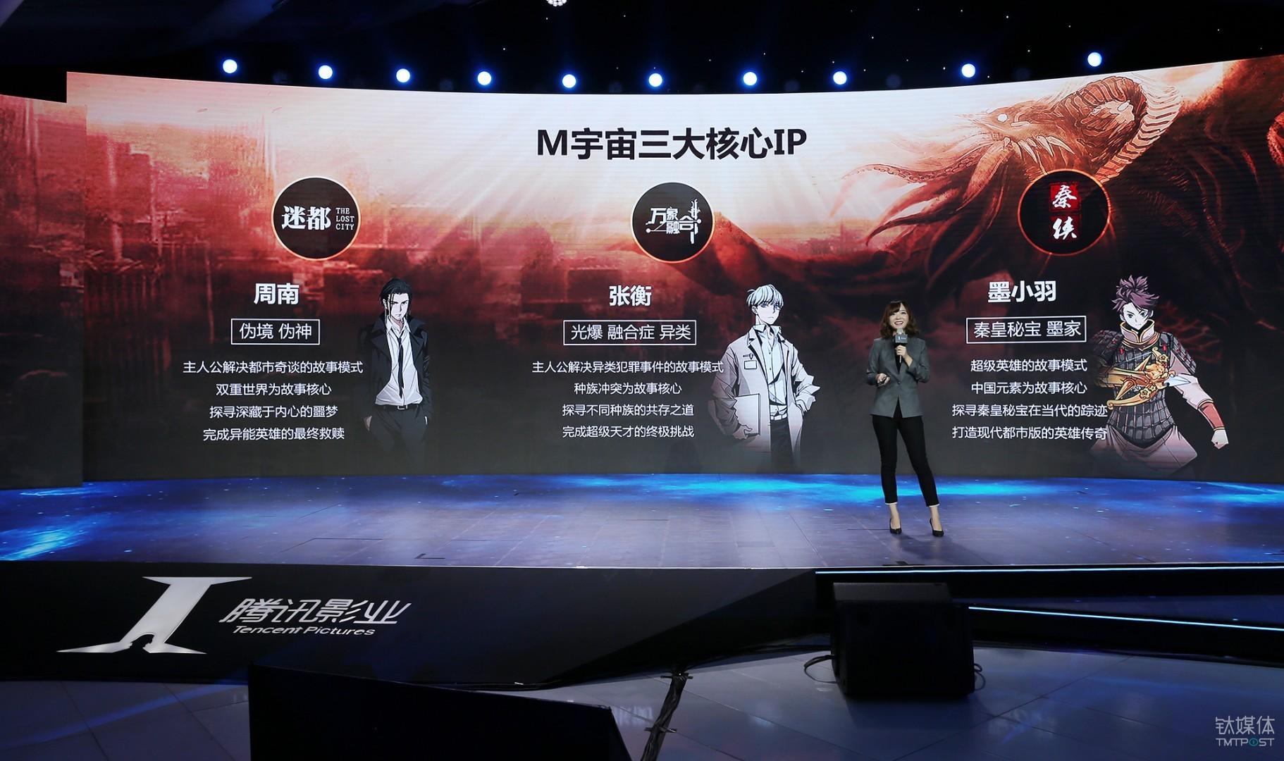 2017年腾讯影业年度发布会上,M计划