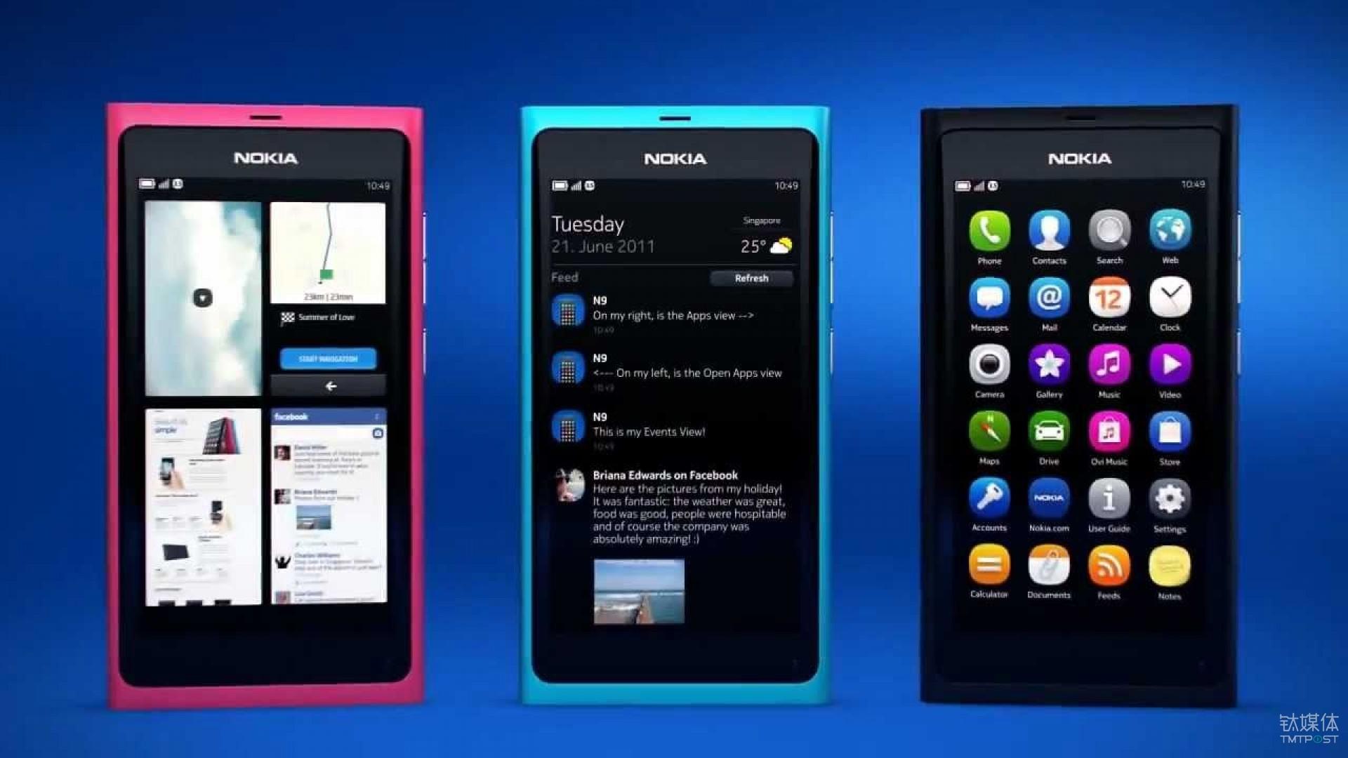 当年凭借着炫酷的手势交互俘获了一批极客的 Nokia N9