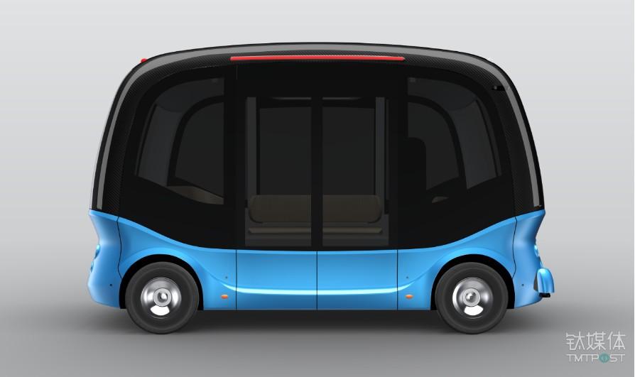 百度与金龙客车联合打造的无人驾驶微循环车(图片来源:网络)